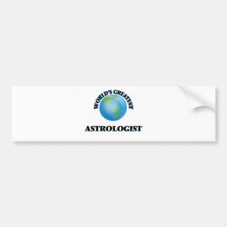 World's Greatest Astrologist Car Bumper Sticker