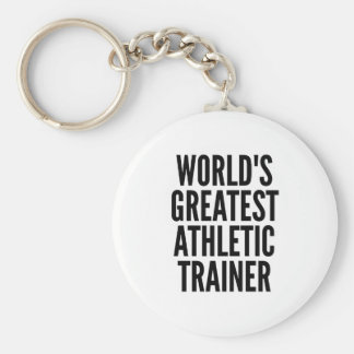 Worlds Greatest Athletic Trainer Keychain