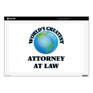 """World's Greatest Attorney At Law 17"""" Laptop Skins"""
