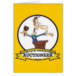 WORLDS GREATEST AUCTIONEER MEN CARTOON GREETING CARD