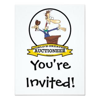 WORLDS GREATEST AUCTIONEER MEN CARTOON CARD