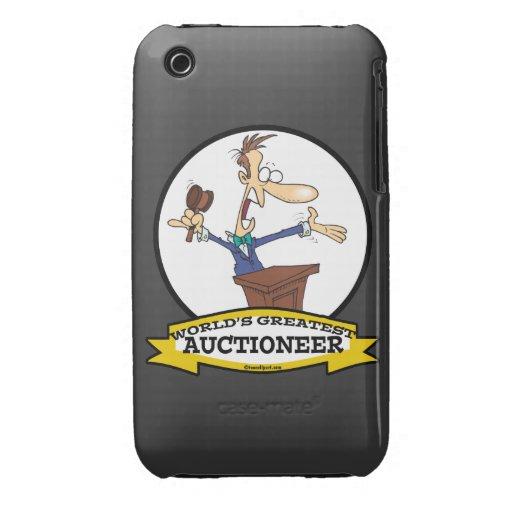 WORLDS GREATEST AUCTIONEER MEN CARTOON Case-Mate iPhone 3 CASE