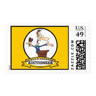 WORLDS GREATEST AUCTIONEER MEN CARTOON POSTAGE