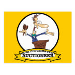 WORLDS GREATEST AUCTIONEER MEN CARTOON POSTCARD