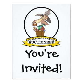 WORLDS GREATEST AUCTIONEER MEN II CARTOON CARD