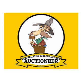 WORLDS GREATEST AUCTIONEER MEN II CARTOON POSTCARD