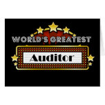 World's Greatest Auditor Card