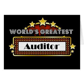 World's Greatest Auditor Card
