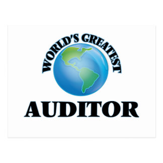 World's Greatest Auditor Post Card