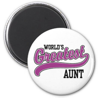 World's Greatest Aunt 2 Inch Round Magnet