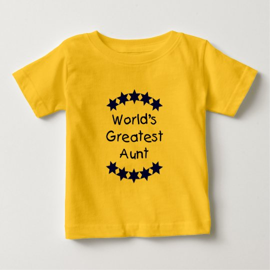 World's Greatest Aunt (blue) Baby T-Shirt