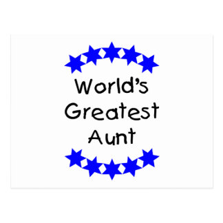 World's Greatest Aunt (blue) Post Card