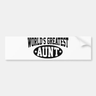 World's Greatest Aunt Bumper Sticker