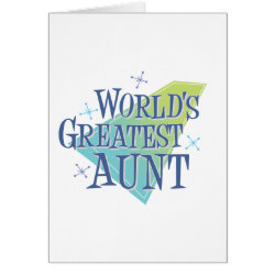 Greeting Card with World's Greatest Aunt design