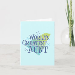 Small Folded Greeting Card with World's Greatest Aunt design