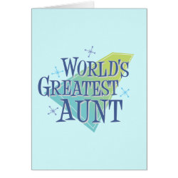World's Greatest Aunt Note Card