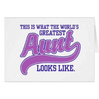 World's Greatest Aunt Card