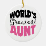 Worlds Greatest Aunt Christmas Ornament