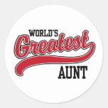 World's Greatest Aunt Classic Round Sticker