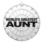 World's Greatest Aunt Dartboard With Darts
