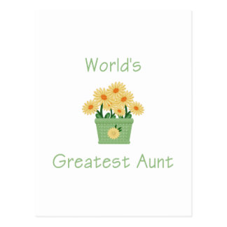 World's Greatest Aunt (flowers) Postcard