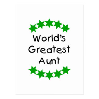 World's Greatest Aunt (green) Post Cards