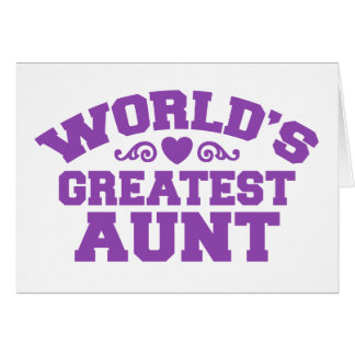 World's Greatest Aunt Greeting Cards
