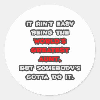 World's Greatest Aunt Joke Sticker