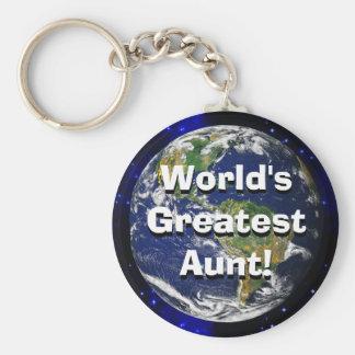 World's Greatest Aunt! Keychain