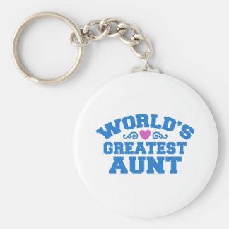 World's Greatest Aunt Keychain