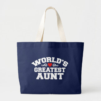 World's Greatest Aunt Large Tote Bag