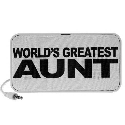 World's Greatest Aunt Mini Speakers