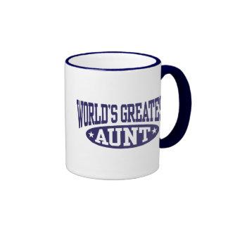World's Greatest Aunt Ringer Coffee Mug
