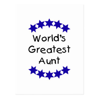 World's Greatest Aunt (navy) Post Card