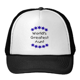 World's Greatest Aunt (navy) Trucker Hat