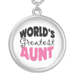 Worlds Greatest Aunt Necklace