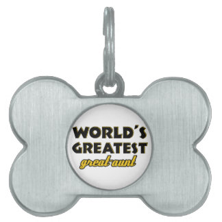 World's greatest aunt pet tags