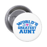 World's Greatest Aunt Pinback Buttons