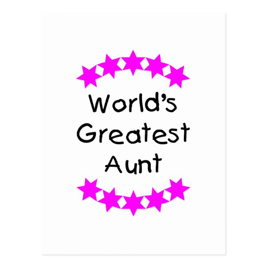World's Greatest Aunt (pink) Postcard