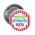 Worlds Greatest Aunt Pins