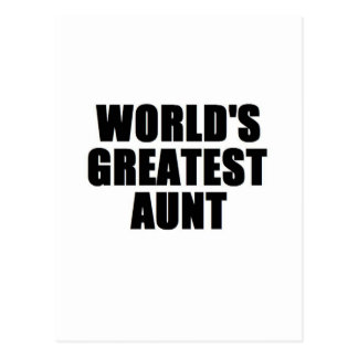 World's Greatest Aunt Post Card
