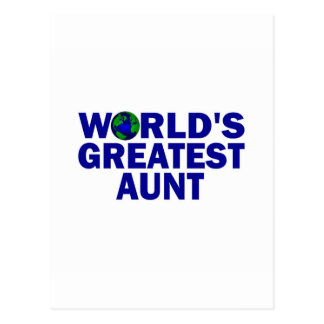 World's Greatest Aunt Post Cards