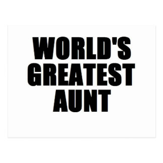 World's Greatest Aunt Postcard