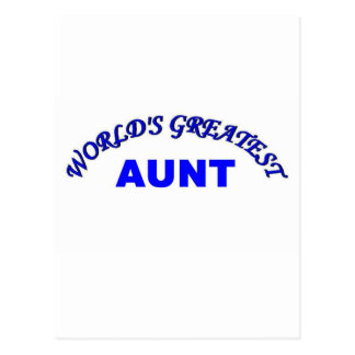 World's Greatest Aunt Postcards