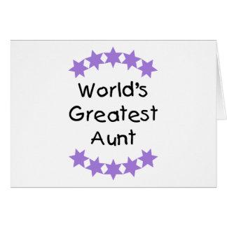 World's Greatest Aunt (purple) Card