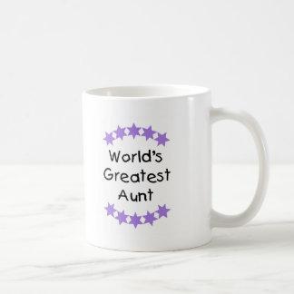 World's Greatest Aunt (purple) Classic White Coffee Mug