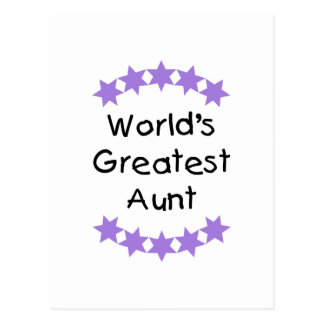 World's Greatest Aunt (purple) Post Card