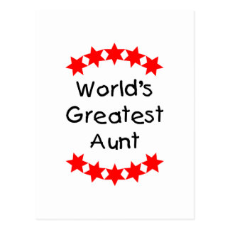 World's Greatest Aunt (red) Postcards