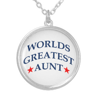 World's Greatest Aunt Silver Plated Necklace