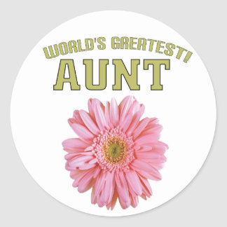 World's Greatest Aunt! Stickers